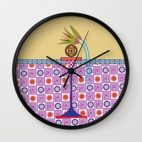 bread Wall Clocks featuring Ancient Bread #1 by Paco Dozier