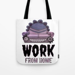 Work From Home Halloween Version Tote Bag