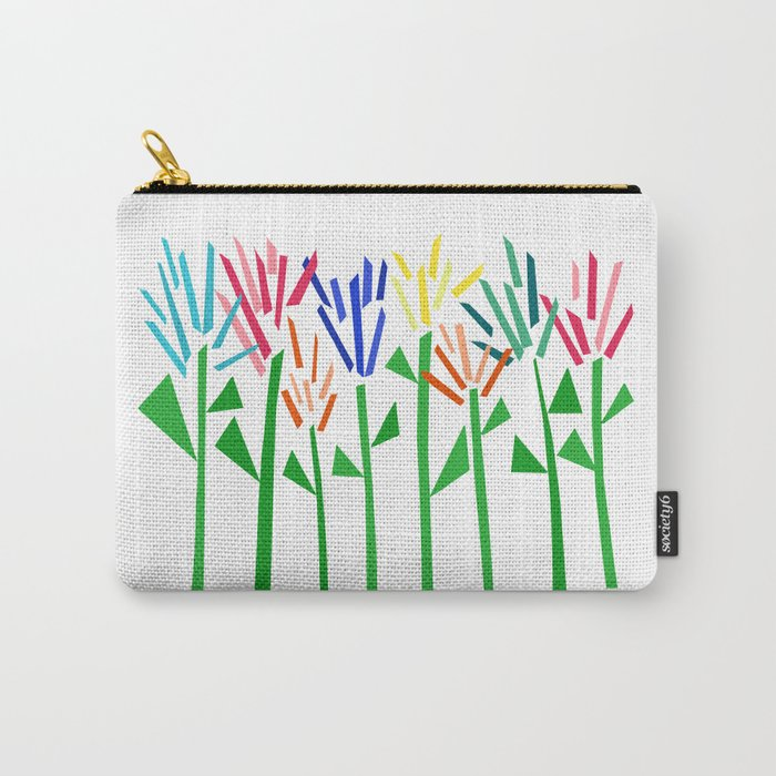 Tropical Rainbow Collage by Emma Freeman Carry-All Pouch