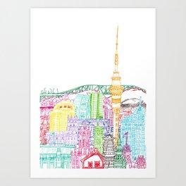 Auckland Towers Art Print