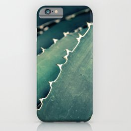 Abstract Botanical in Teal and Emerald iPhone Case