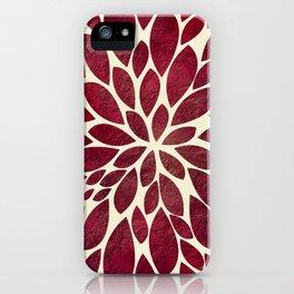 Petal Burst - Maroon iPhone Case