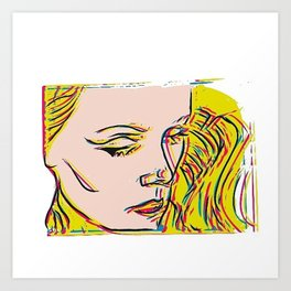 Blonde bombshell VII Pop art Art Print