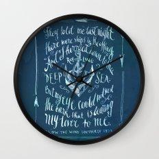 Old Sailor Song No.2 Wall Clock
