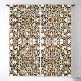 jewelry gemstone silver champagne gold crystal Blackout Curtain