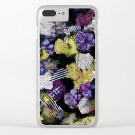 Floral Travels Clear iPhone Case