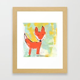 Bright and Happy Fox Framed Art Print