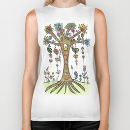 Somwhere in a magical forest is a magical tree Biker Tank