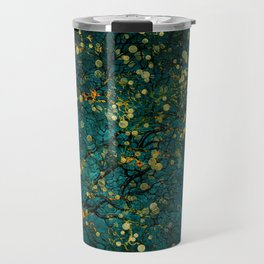 Abstract Night Tree Digital Art Travel Mug