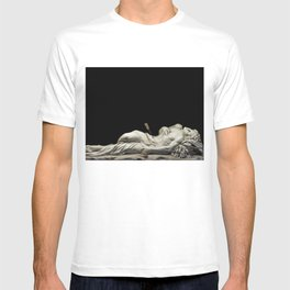 Magnificent Italian Renaissance Marble Statue of St. Sebastian at the Louvre by Giuseppe Giorgetti T-shirt