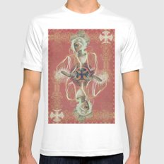 Queen Of Clubs Mens Fitted Tee MEDIUM White