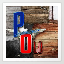 passionate about polo Art Print