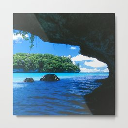 Exotic Palau Islands: View From Treacherous Ocean Cave Metal Print