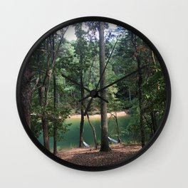 forest lagoon view Wall Clock