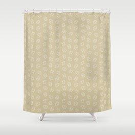 Pangnupark Hippo Bear Khaki Shower Curtain