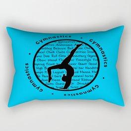 Circle Gymnastics new blue Rectangular Pillow
