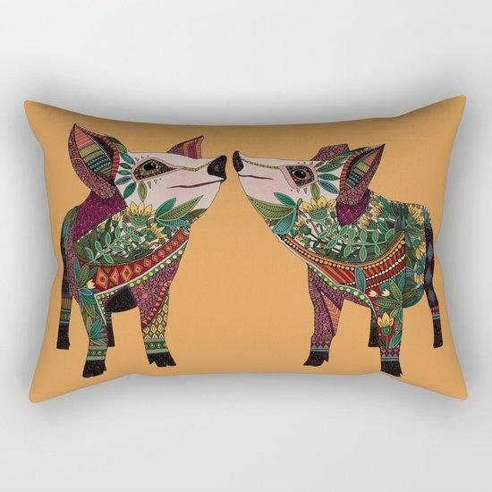 pig love amber Rectangular Pillow