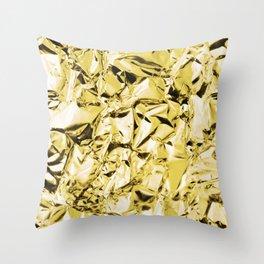 Gold foil Throw Pillow