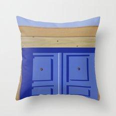 Adobe Wall Left Throw Pillow