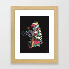 On the Lo. Framed Art Print
