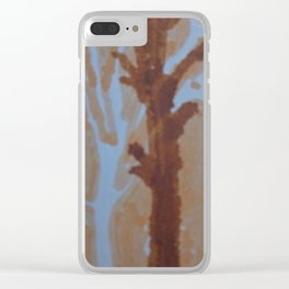 Mark of a street tree Clear iPhone Case