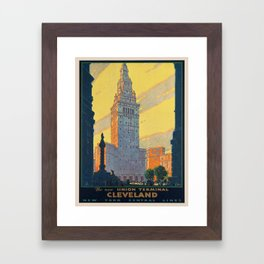 Vintage poster - Cleveland Framed Art Print