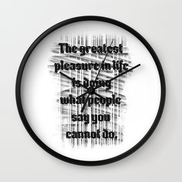 cannot Wall Clock