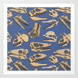 Paleontology Art Print