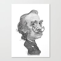 salvador dali Canvas Prints featuring Salvador Dali by Stavros Damos