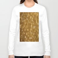 gold glitter Long Sleeve T-shirts featuring Gold Glitter 1323 by Cecilie Karoline