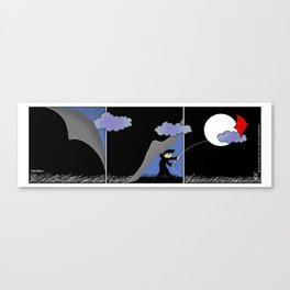 Night Kite Canvas Print