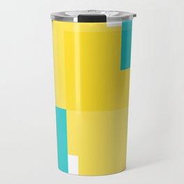 Geomeric background Travel Mug