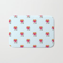 My heart goes faster for you pattern Bath Mat