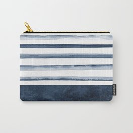 Stripes   Watercolor Pattern Carry-All Pouch