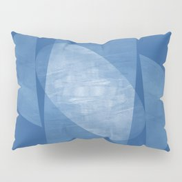 Blue Geometric Abstract Mid Century Modern Pillow Sham
