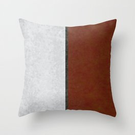 Marble Leaves Throw Pillow