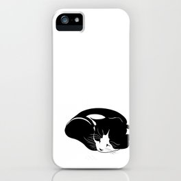 little kitten who sleeps peacefully iPhone Case