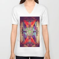 mandala V-neck T-shirts featuring Mandala by Aaron Carberry