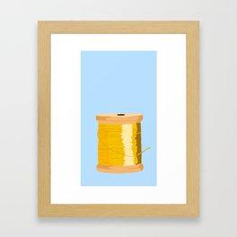 Yellow Spool Of thread Framed Art Print