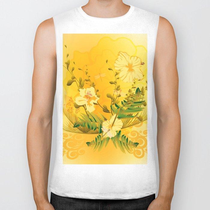 Wonderful soft yellow flowers Biker Tank