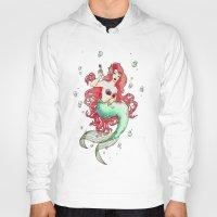 mucha Hoodies featuring Mucha-esque Mermaid by Beth Aucoin