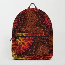 Fiery Fractal Mandala 2 Backpack