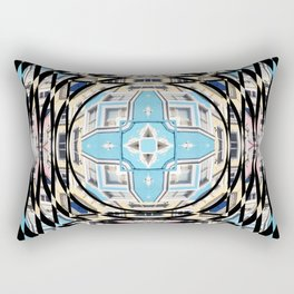 Perspective Aperture, Intersecting Pattern Rectangular Pillow