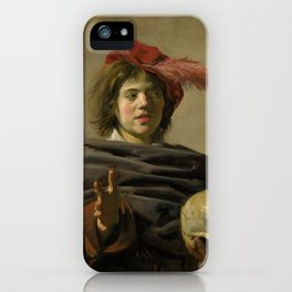 "Frans Hals ""Young man with a skull"" iPhone Case"