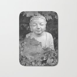 Buddha black and white photo, photographed village in Oberaudorf (Bavaria), 2013 Bath Mat