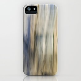 Soft Blue and Gold Abstract iPhone Case