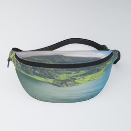 Vulcanic lake on the Azores island in Portugal Fanny Pack