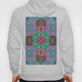 Uplifting Refreshing Mega Mandala in Pink and Green Hoody