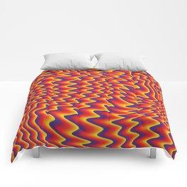 liquify illusion Comforters