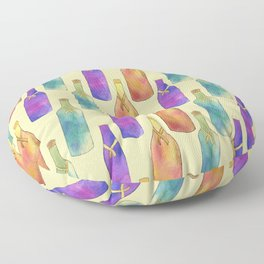 Summer Time Refreshments Floor Pillow